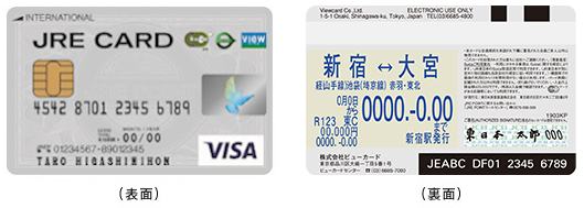 JRE CARDの定期券とSuica機能