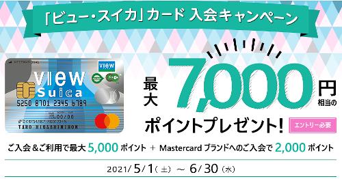 ビュー・スイカカード入会キャンペーン特典ポイント